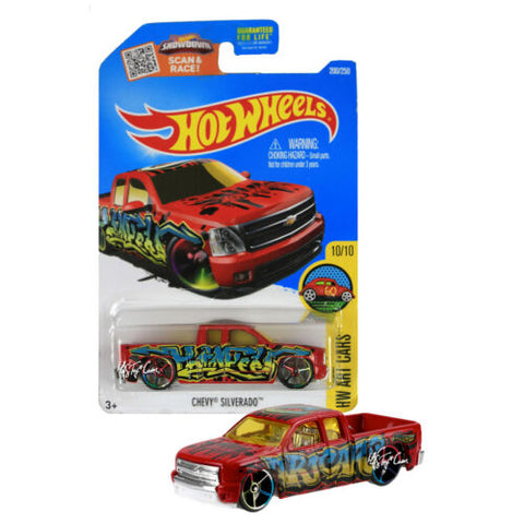 NEW 2015 Hot Wheels 1:64 Die Cast Car HW ART Cars Chevy Silverado 10/10 200/250