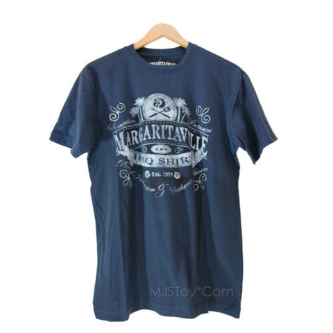 NWT Jimmy Buffett's Margaritaville Men T-Shirt Navy Blue The BBQ Shirt Tee Sz. M