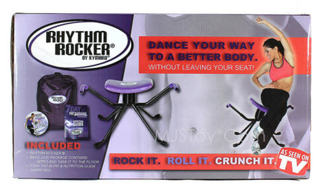 NIB Kymaro Rhythm Rocker Dance Exercise System 2 Workout DVDs TONE Abs Burn Fat