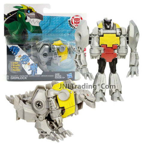 Year 2014 Hasbro Transformers RID Animation One Step Changer GOLD ARMOR GRIMLOCK