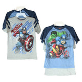 NWT Marvel Avangers Boy T-Shirt 2 Pc Hulk/Iron Man/Captain America Tee L(10/12))