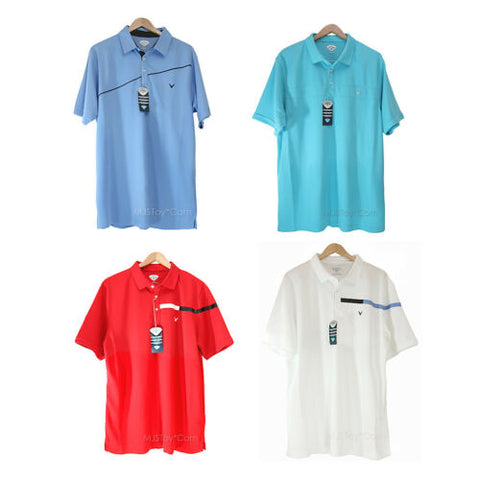 NWT Callaway Men's Performance Golf Polo Shirt Comfort Dry 4 Colors SZ L/XL/XXL