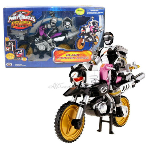 "NEW Power Rangers Operation Overdrive 8"" Action Figure BLACK ZORDTEK CYCLE"