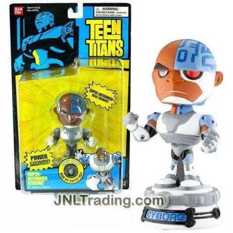 NEW DC Comic Teen Titans Go! Electronic Figure SUPER DEFORMED CYBORB Bobble Head