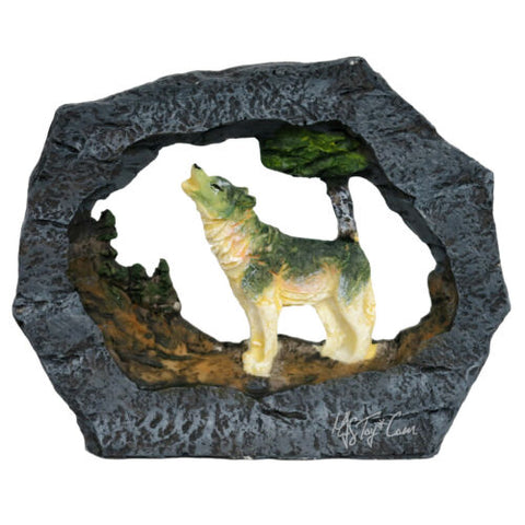 "Regal Elites Vista Feather Series 4"" Long Wildlife Sculpture HOWLING WOLF Figure"