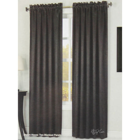 NEW Energy Efficient Saver Blackout Window Treatment Curtains One Panel Black