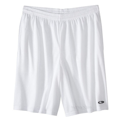 NWT Champion G9 Sport Gym Training Active Performance White Mesh Short L/XXL