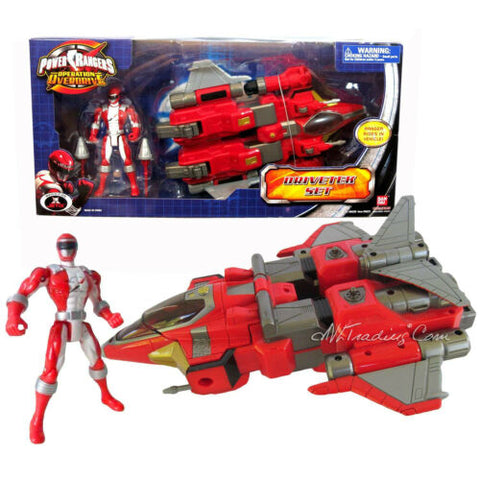 NEW Power Rangers Operation Overdrive Vehicle set DRIVETEK + Red Action Figure