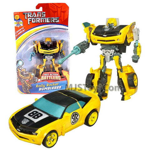 "Year 2006 Transformer Fast Action Battlers 6"" Figure Rally Rocket BUMBLEBEE"