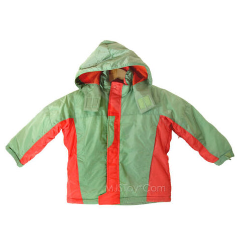 NWT Shilav Toddler Boy Green Red Warm Nylon Jacket Cozy Hooded Winter Coat 2T/3T