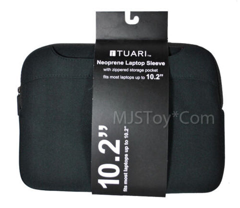 "NEW 10.2"" Black Neoprene Laptop Sleeve Zipper Storage Pocket Scratch-resistant"