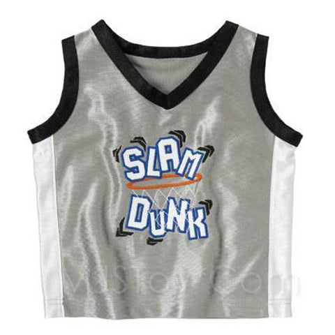 NWT Gymboree Boy Slam Dunk Basketball Sleeveless Jersey Mesh Tank Top 18-24Mo/2T