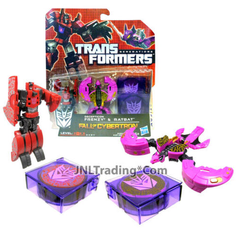 "Year 2012 Transformers Generations Fall of Cybertron 2 Pack 3"" RENZY & RATBAT"