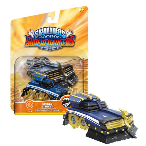 NEW RARE Skylanders Superchargers SHIELD STRIKER Action Figure Tech Land Vehicle