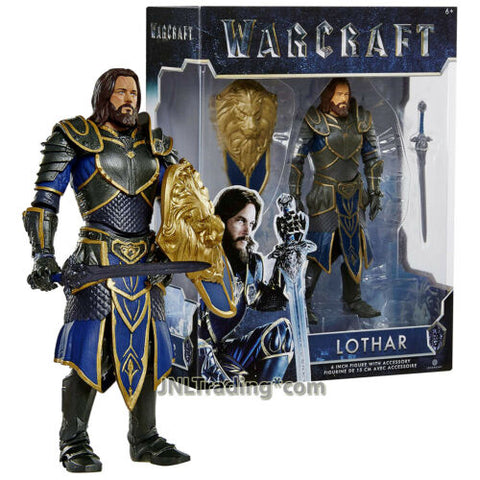 Year 2016 Warcraft Movie Series 6 Inch Tall Figure LOTHAR with Shield and Sword
