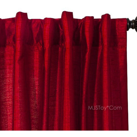 NEW Threshold One Window Treatment Panel Red Tile 54x95 Curtain 2 Hanging Styles