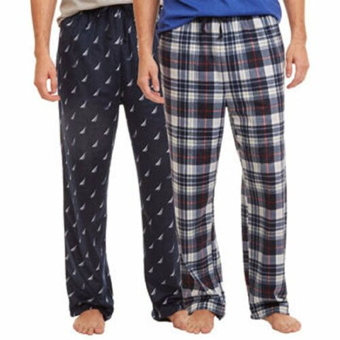 NWT NAUTICA Men's Sleepwear 2 Pack Sueded Fleece Lounge/Pajama Pants PJ Size XL