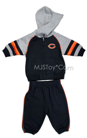 NWT Chicago Bears NFL Baby Jogging Suit 2pc Embroidered Team Logo Jacket Pants