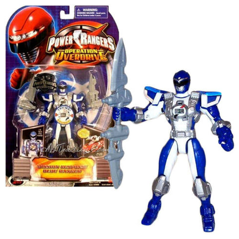 NEW Bandai Power Rangers Operation Overdrive Figure MISSION RESPONSE BLUE RANGER