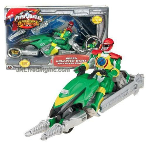 "NEW Bandai Power Rangers Operation Overdrive 8.5"" Vehicle GREEN HOVERTEK CYCLE"