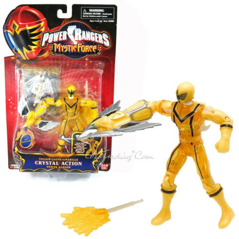 "NEW Power Rangers Mystic Force 5.5"" Figure CRYSTAL ACTION YELLOW POWER RANGER"