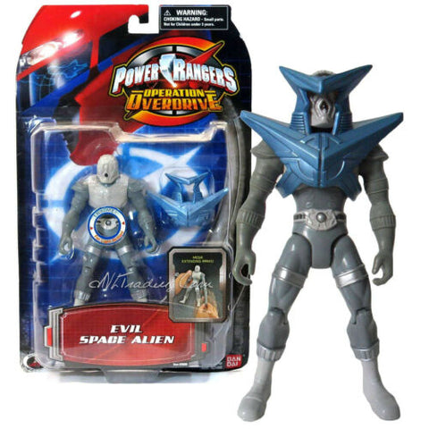 "NEW Bandai Power Rangers Operation Overdrive 6"" Action Figure Evil Space Alien"