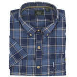 NWT Bass Rock River Texture Men's Short Sleeve Plaid 100% Cotton Shirt MSRP $50