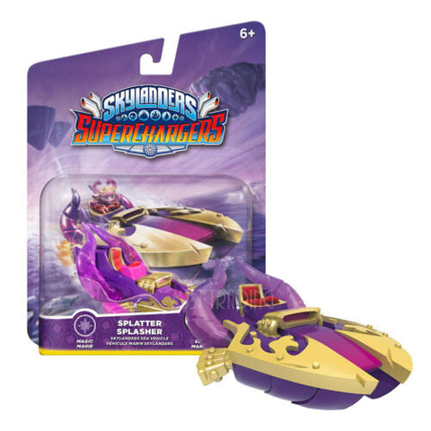 NEW RARE Skylanders Superchargers SPLATTER SPLASHER Figure Magic Sea Vehicle HOT