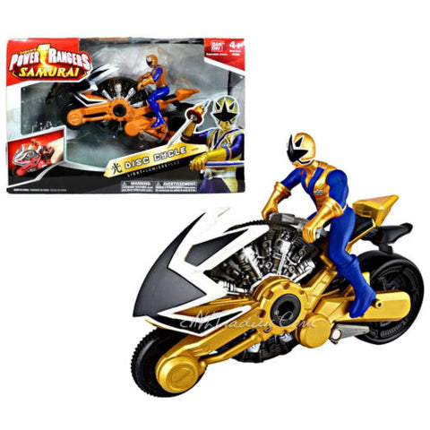 NEW Bandai Power Rangers Samurai Action Vehicle Set LIGHT DISC CYCLE+Gold Ranger