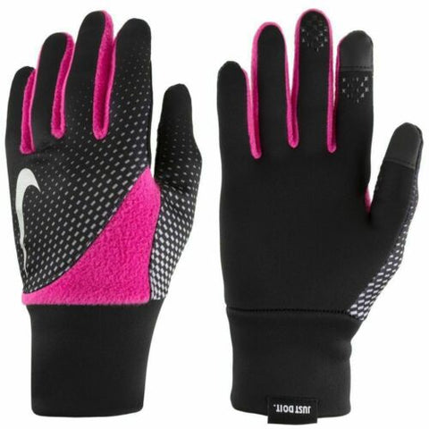 NEW NIKE Women's Element Thermal 2.0 Run/Training Gloves Black/Pink S/P or XS/TP