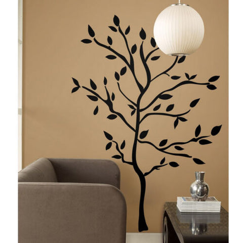 NEW RoomMates XL Giant 60 Wall Decals Black Tree Branches Leaves Mural Stickers