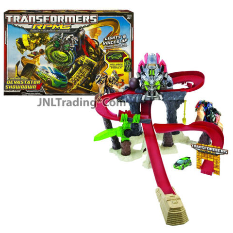 Year 2009 Transformers RPMs Car Track Set CONSTRUCTICON DEVASTATOR SHOWDOWN