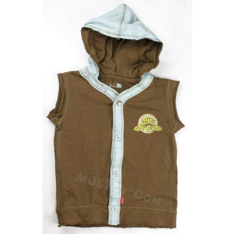 NWT Shilav Sleeveless Hoodie Vest Shirt 100% Cotton Nature Life Boy/Girl 4T/7T