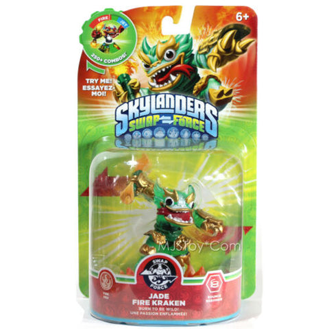 Skylanders SWAP FORCE JADE FIRE KRAKEN Action Figure Skylander RARE Figures