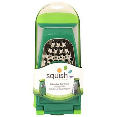 NEW Squish Collapsible Box Grater Green Fine & Course Grating Surface Sure Grip