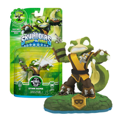 NEW Skylanders SWAP FORCE STINK BOMB HOT Action Figure Skylander RARE Figures