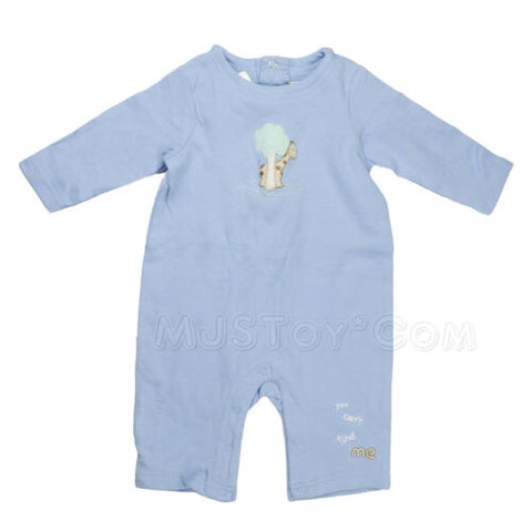 NEW Buster Brown Baby Infant Pastel Blue Giraffe Baby Romper100% Cotton 3-6/6-9M