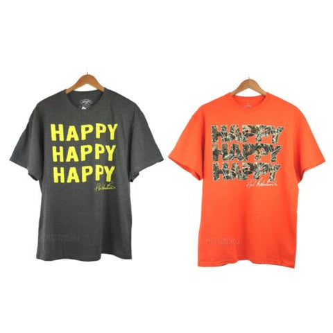 "NWT Duck Dynasty Commander ""HAPPY HAPPY HAPPY"" Phil Robertson T-Shirt Soft Tee"