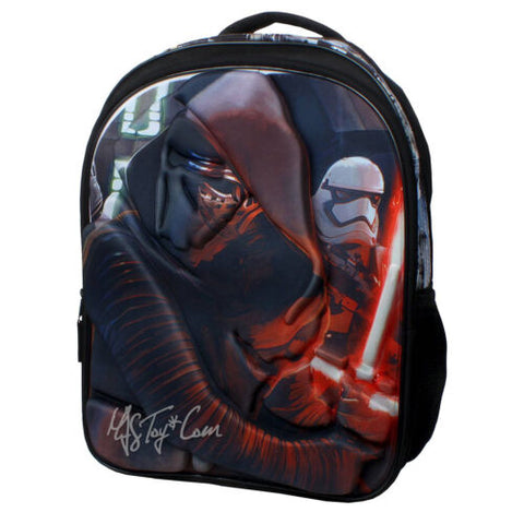 "NEW Disney 16"" Star Wars The Force Awakens Kylo Ren School Bag Travel Backpack"