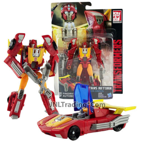 Year 2016 Hasbro Transformers Titans Return Figure FIREDRIVE & AUTOBOT HOT ROD