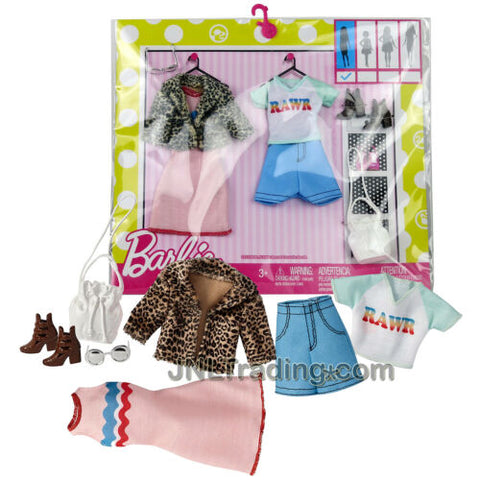 New Year 2016 Barbie Fashionistas Accessory Faux Fur Jacket, Dress, Tops, Shorts