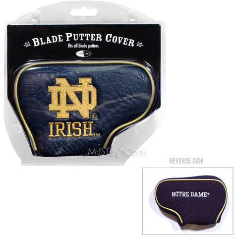 NEW NCAA Notre Dame Fighting Irish Blade Putter Cover by Team Golf Embroidered