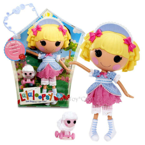 "NEW HOT Lalaloopsy 12"" Tall Button Rag Doll Little Bah Peep+Pet White Sheep RARE"