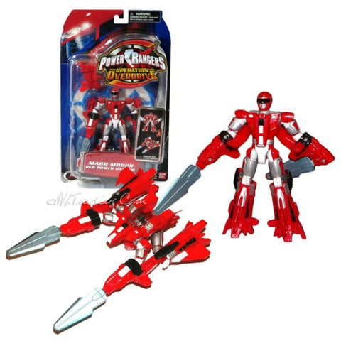 "NEW Bandai Power Rangers Operation Overdrive 6"" Action Figure MACH-MORPHIN RED"
