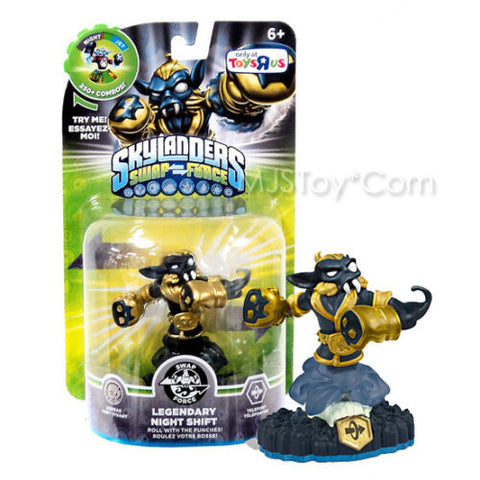 NEW HOT Skylanders SWAP FORCE Legendary Night Shift TRU Exclusive RARE Figure