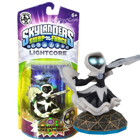 NEW Skylanders SWAP FORCE Lightcore Enchanted Star Strike Figure Skylander RARE
