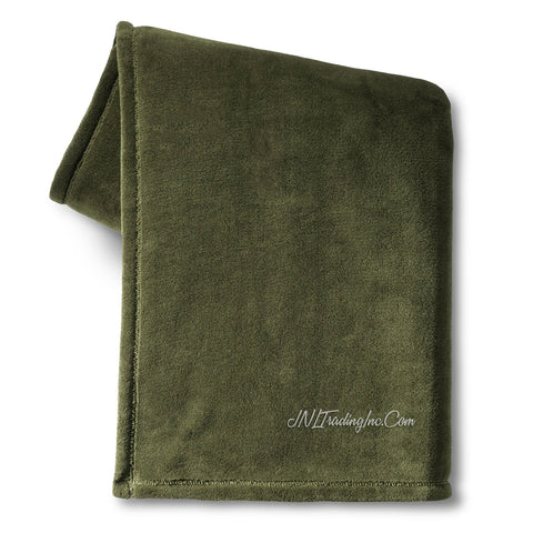Room Essentials Dorm Bed Microplush Soft Warm Green Fleece Blanket XL TWIN
