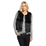 Mossimo Supply Co Women's Cropped Black Faux Fur Soft Luxurious Stylist Vest