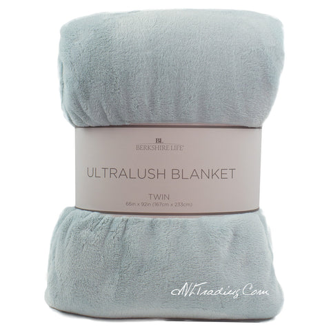 "Berkshire Life Ultra-lush Soft Plush Cozy Blanket Warm Velvety Throw TWIN (66""x92"")"