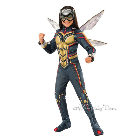Marvel Ant-Man & The Wasp -WASP Child Costume Jumpsuit+Boot tops+Wings+Mask